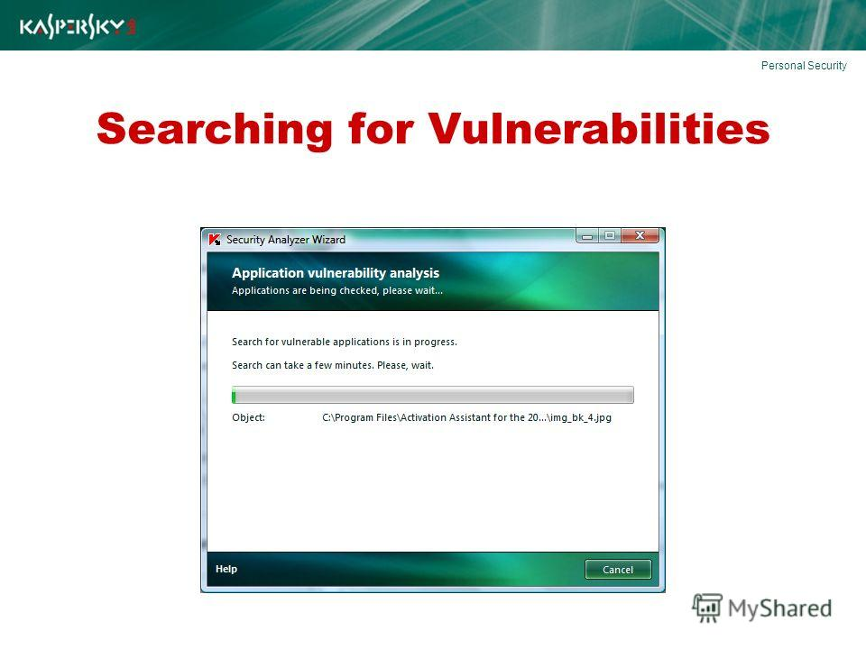 Searching for Vulnerabilities Personal Security