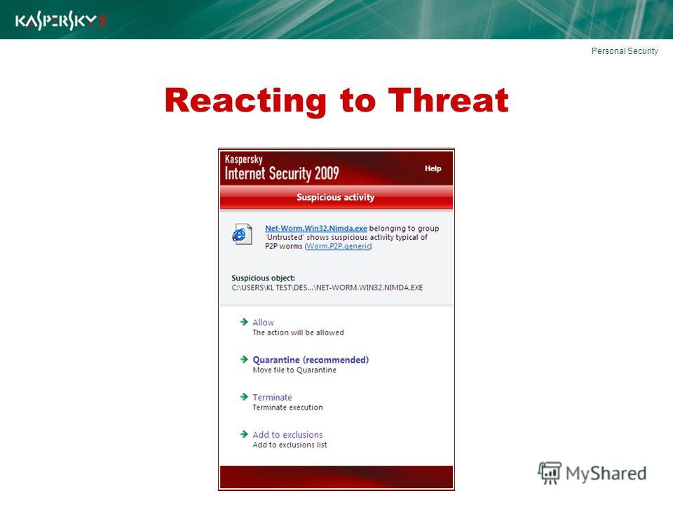 Reacting to Threat Personal Security