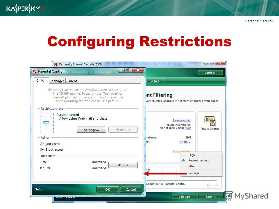 Configuring Restrictions Personal Security