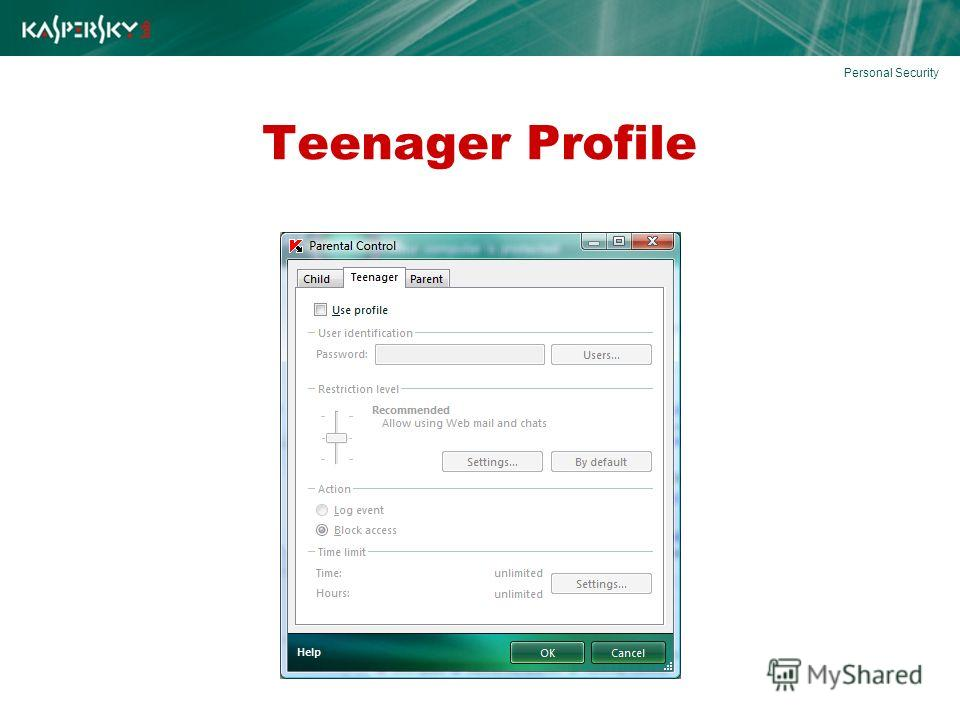 Teenager Profile Personal Security