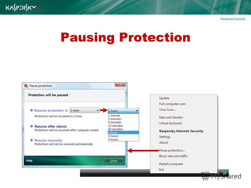 Pausing Protection Personal Security