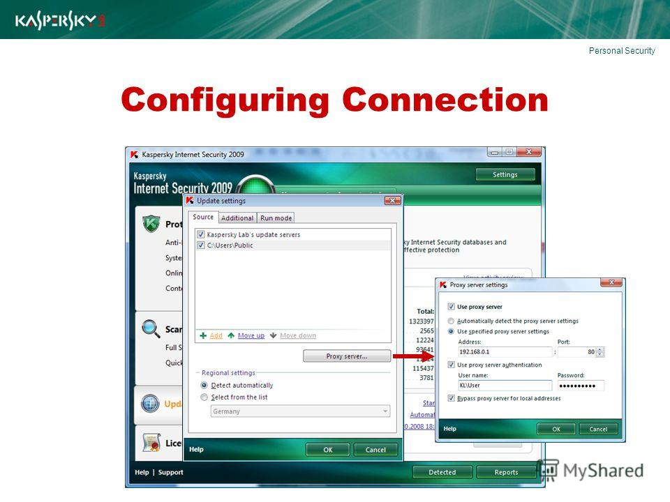 Configuring Connection Personal Security