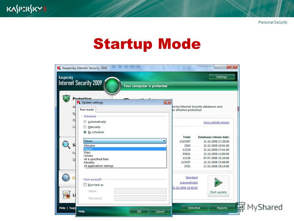 Startup Mode Personal Security