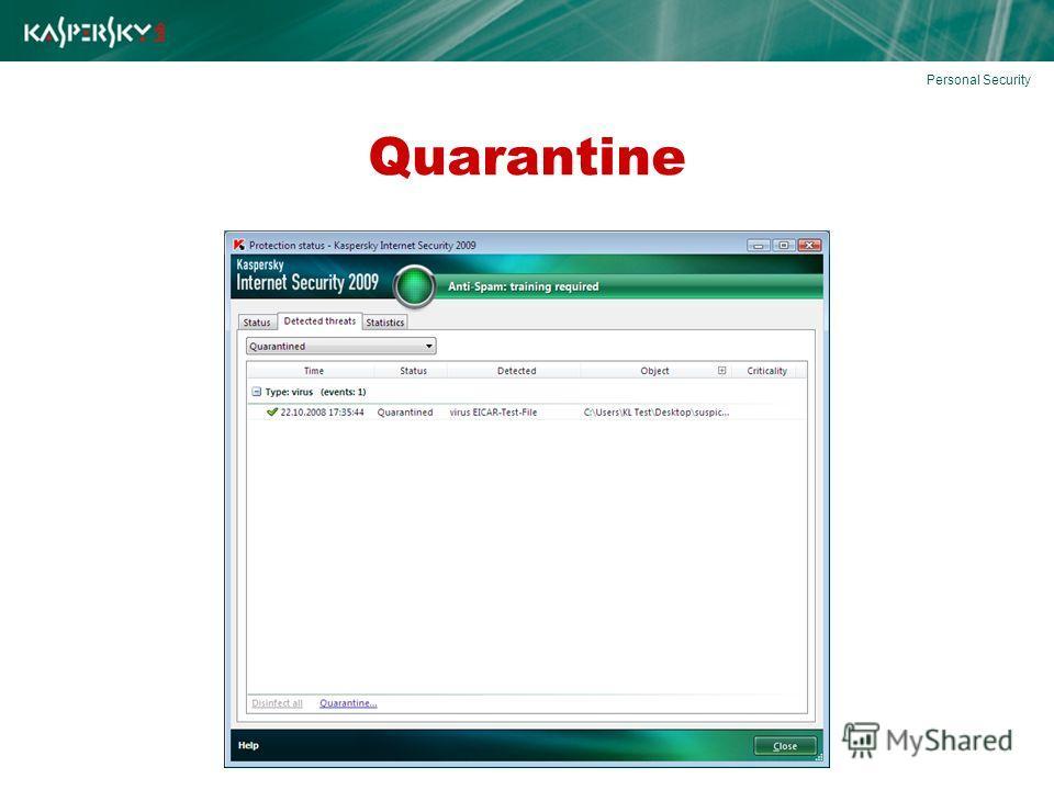 Quarantine Personal Security
