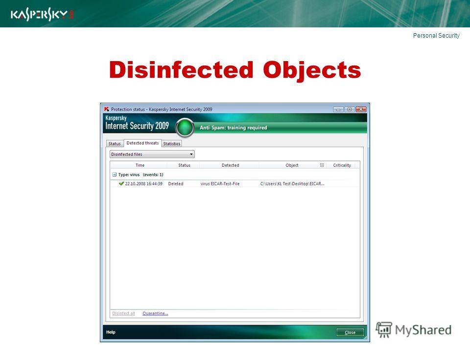 Disinfected Objects Personal Security
