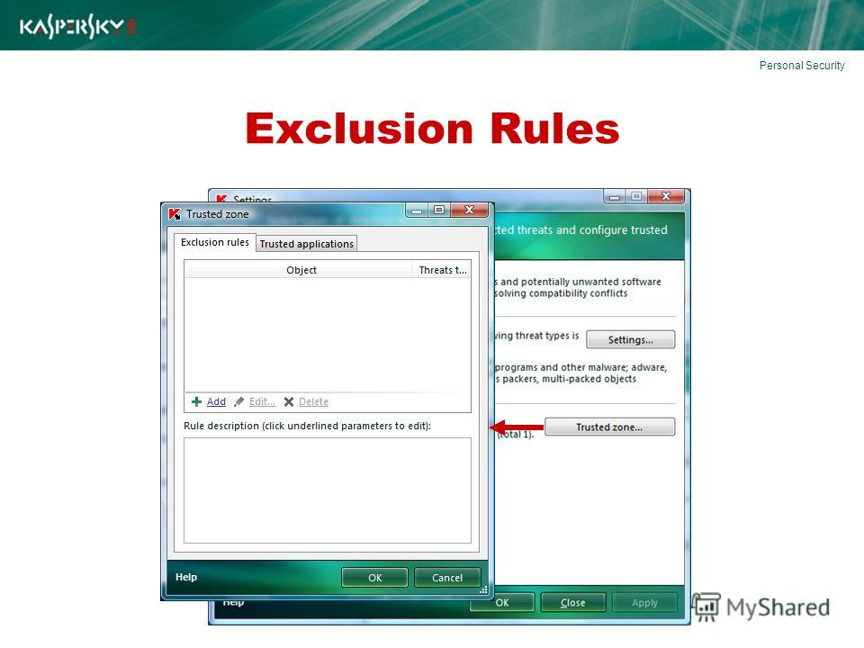 Exclusion Rules Personal Security