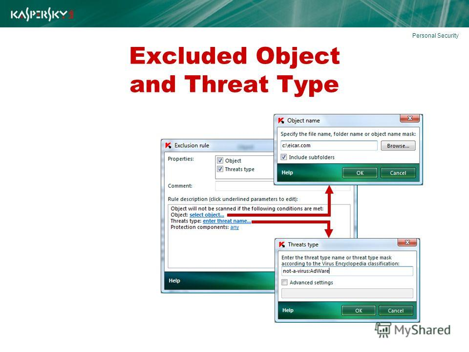 Excluded Object and Threat Type Personal Security