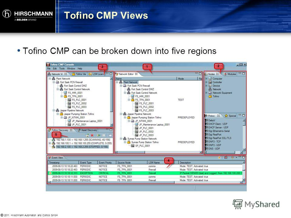 © 2011. Hirschmann Automation and Control GmbH © Creating Your Network Diagram Connecting to a Tofino SA Managing LSMs and Licensing Asset Discovery Section 2.3: Mapping Your Network
