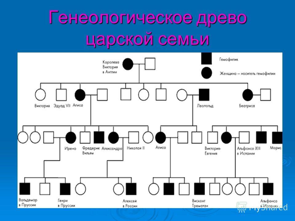 Генеологическое древо царской семьи