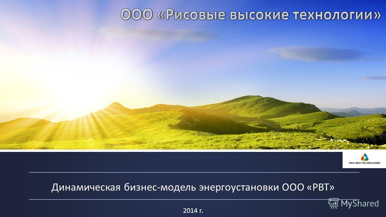 2014 г. Динамическая бизнес-модель энергоустановки ООО «РВТ»