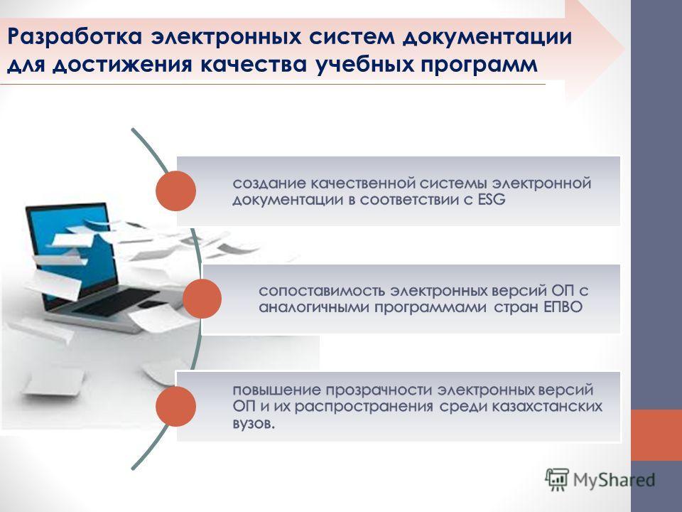 Разработка электронных систем документации для достижения качества учебных программ