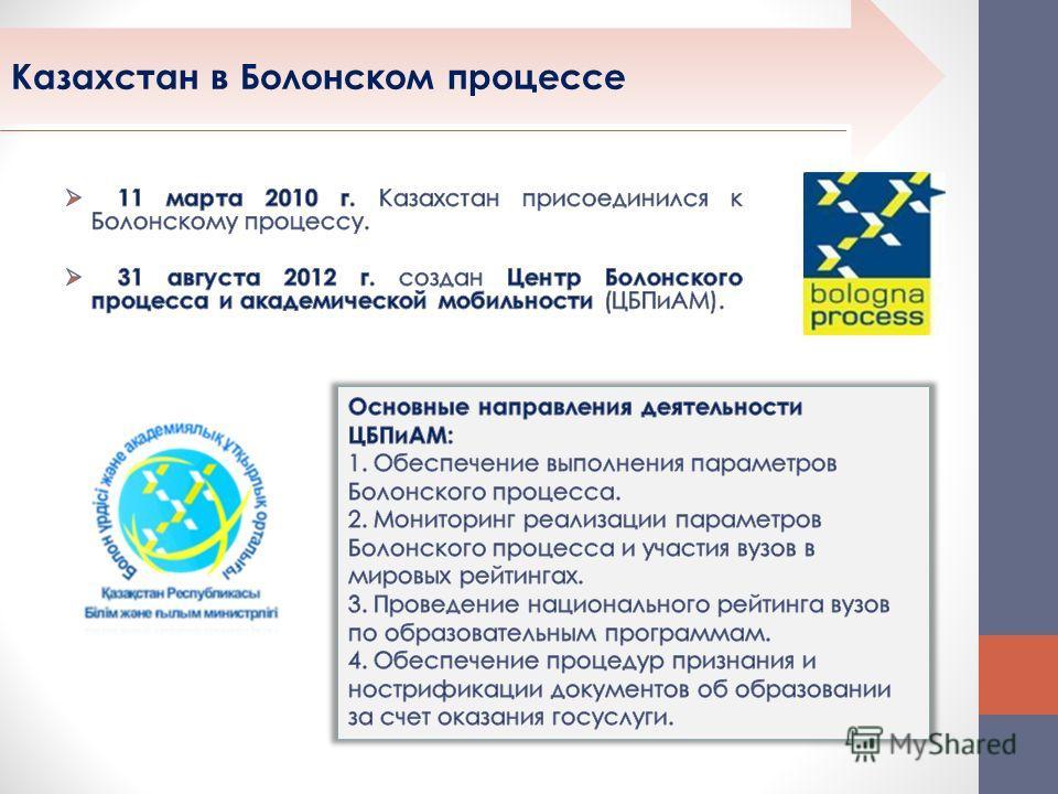 Казахстан в Болонском процессе