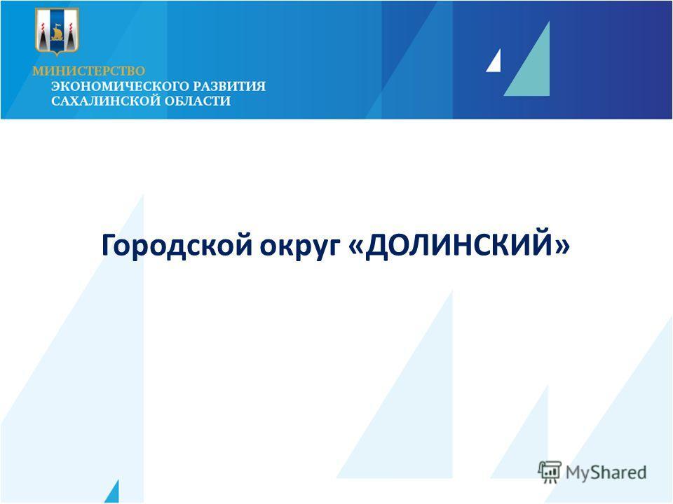 Городской округ «ДОЛИНСКИЙ»