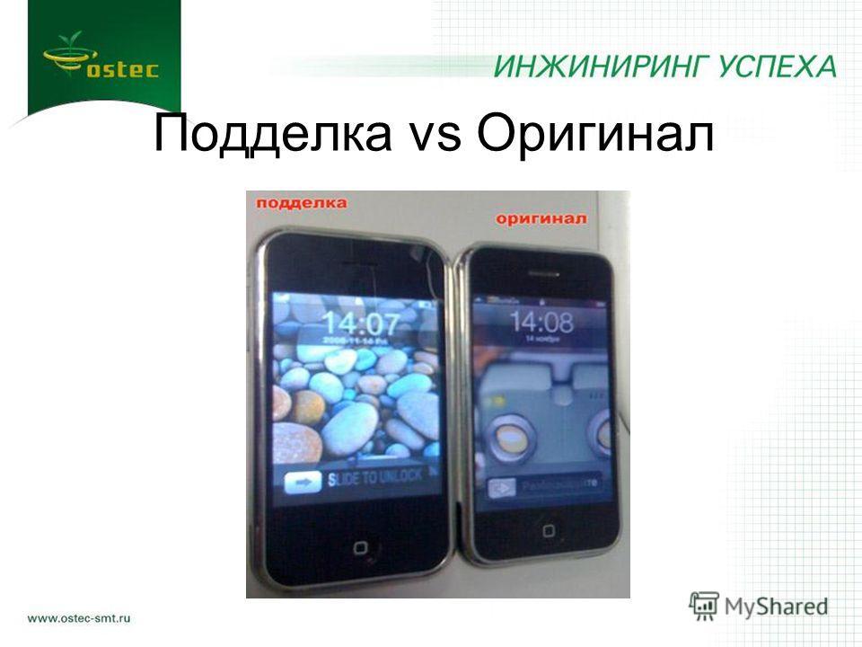 Подделка vs Оригинал