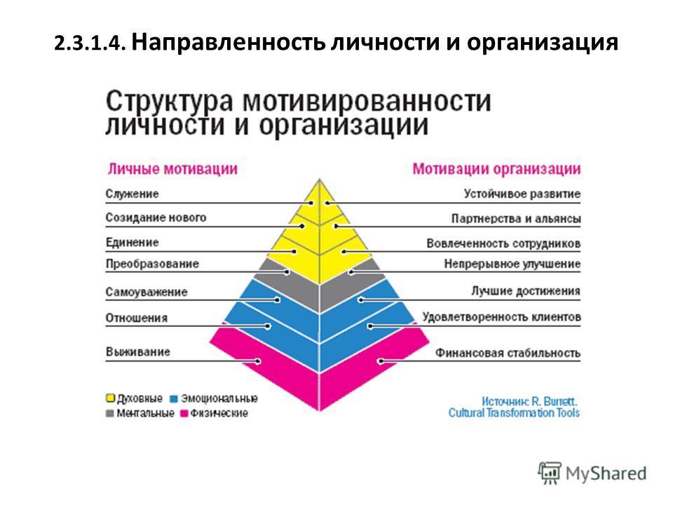 2.3.1.4. Направленность личности и организация