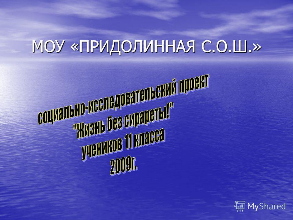 МОУ «ПРИДОЛИННАЯ С.О.Ш.»