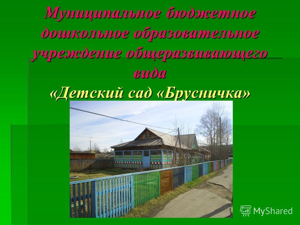 Муниципальное бюджетное дошкольное образовательное учреждение общеразвивающего вида «Детский сад «Брусничка» г. Томмот.