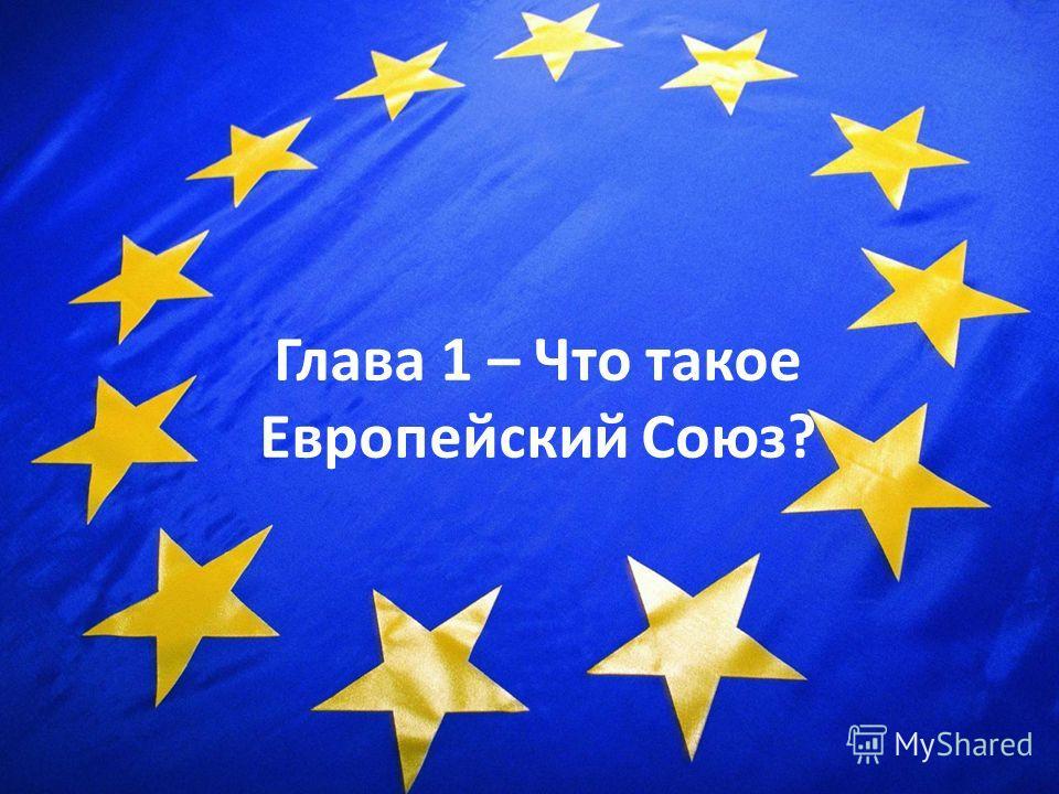 3 Глава 1 – Что такое Европейский Союз?