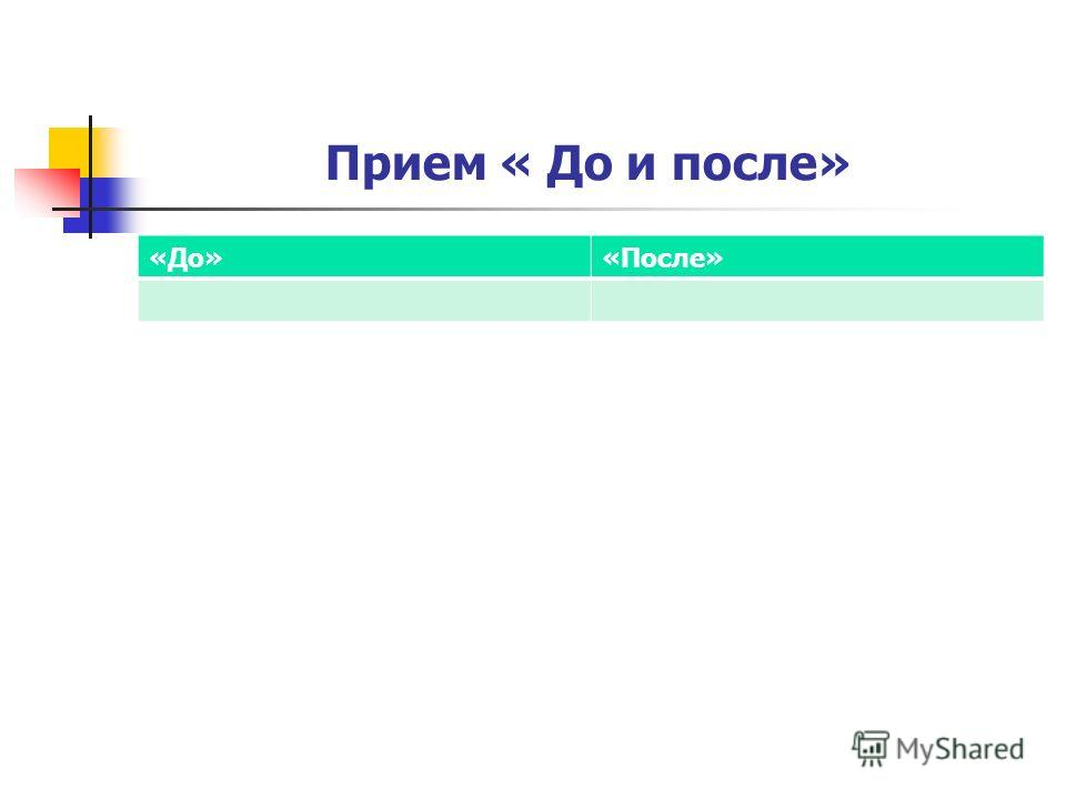 Прием « До и после» «До»«После»