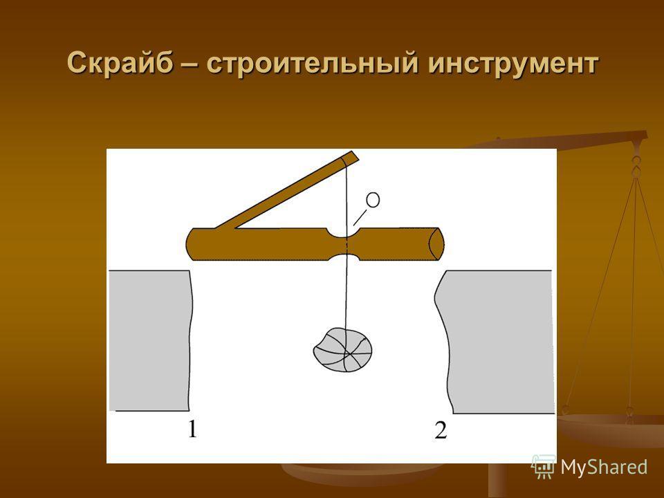 Скрайб – строительный инструмент