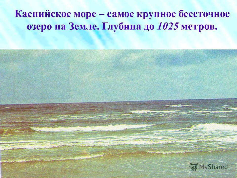 Это самое большое озеро на Земле, расположенное на стыке Европы и Азии называемое морем из-за его размеров. Вода в нём солёная, от 0,05 близ устья Волги до от 1113 на юго-востоке. Вид из космоса