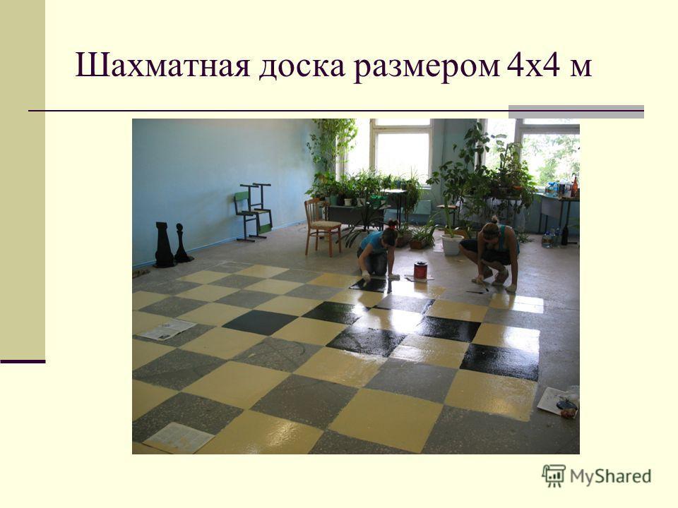 Шахматная доска размером 4 х 4 м
