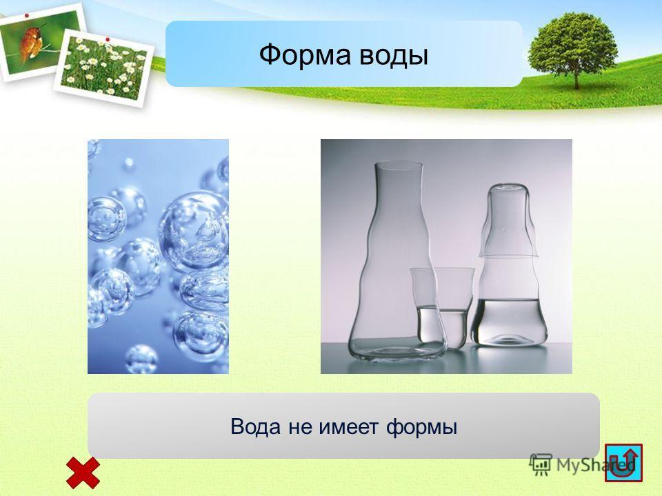 Форма воды Вода не имеет формы