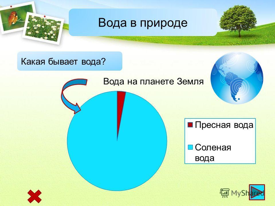 Вода в природе Какая бывает вода?