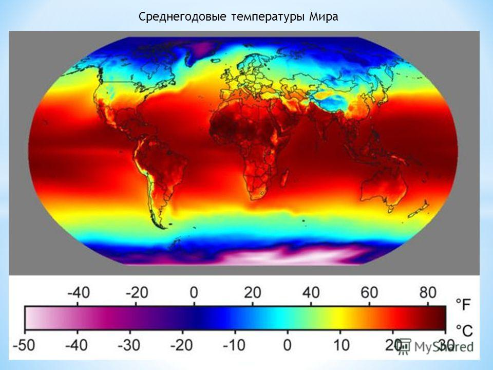 Среднегодовые температуры Мира