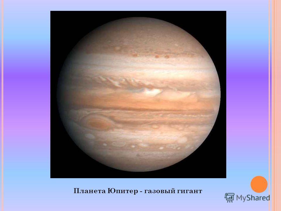 Планета Юпитер - газовый гигант
