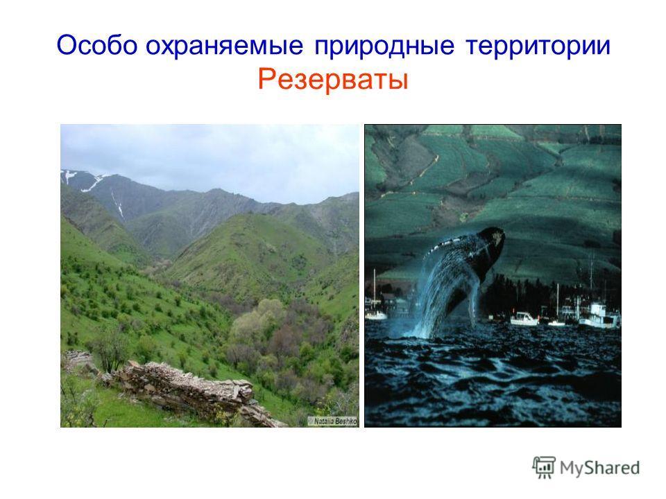 Особо охраняемые природные территории Резерваты