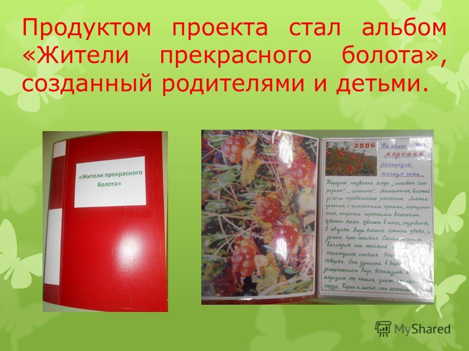 Продуктом проекта стал альбом «Жители прекрасного болота», созданный родителями и детьми.