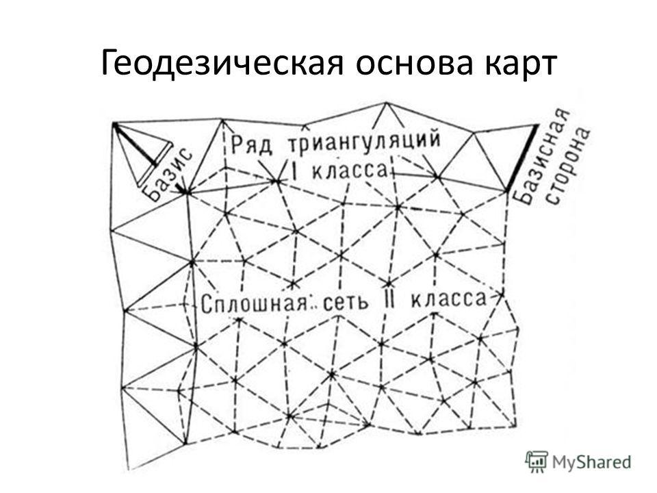 Геодезическая основа карт