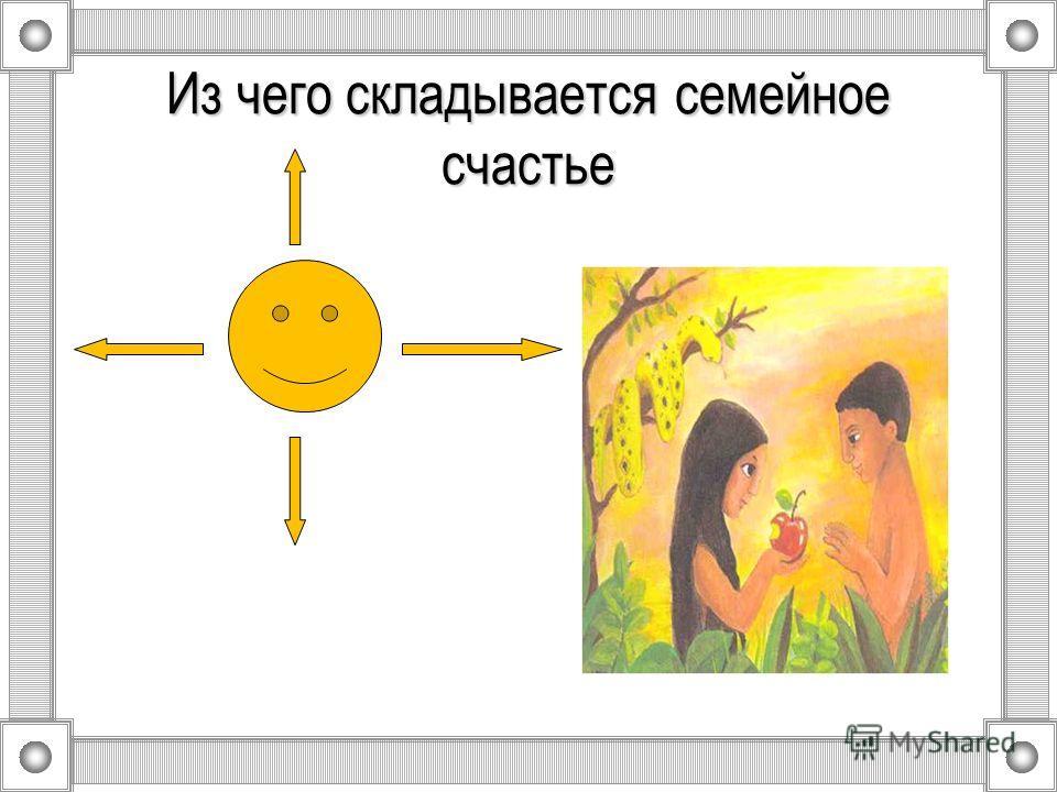 Из чего складывается семейное счастье
