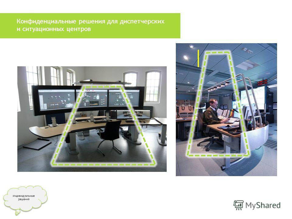 Конфиденциальные решения для диспетчерских и ситуационных центров Индивидуальные решения Индивидуальные решения