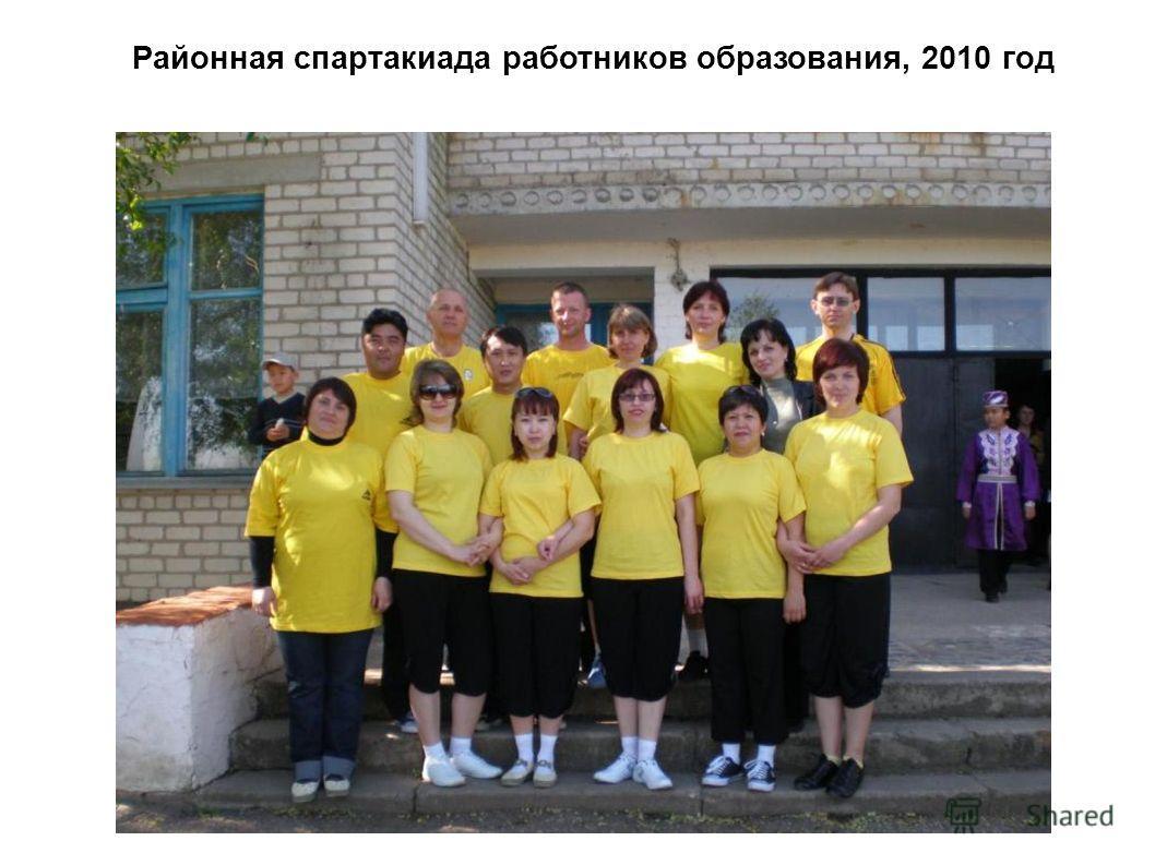 Районная спартакиада работников образования, 2010 год