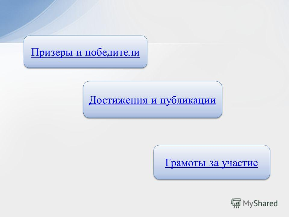 Призеры и победители Достижения и публикации Грамоты за участие