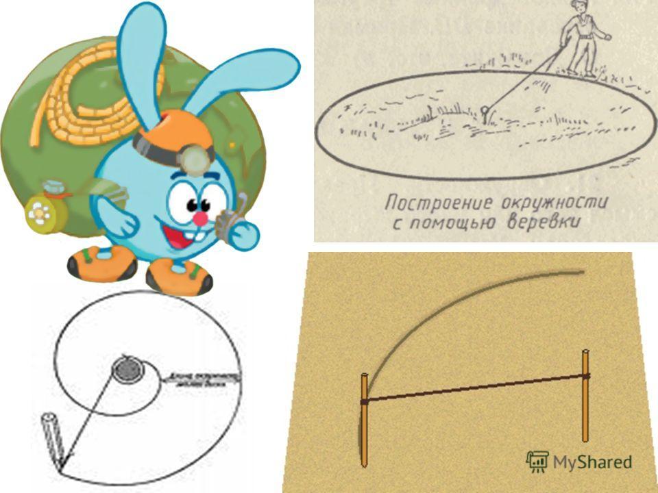 Представьте, что вы в далеком прошлом и циркуль еще не изобрели! Как же вы нарисуете окружность?
