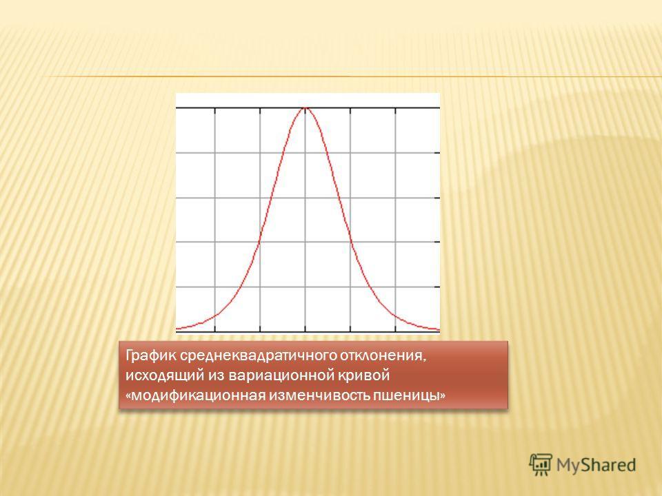 График среднеквадратичного отклонения, исходящий из вариационной кривой «модификационная изменчивость пшеницы»