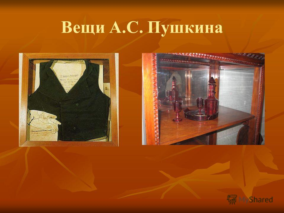 Вещи А.С. Пушкина