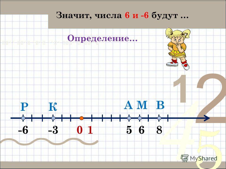 01 А -3-66 ВМ КР 58 Значит, числа 6 и -6 будут … Определение…