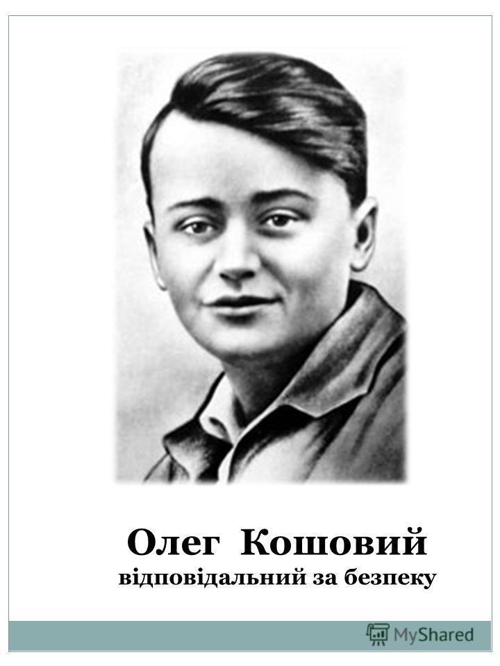 Олег Кошовий відповідальний за безпеку
