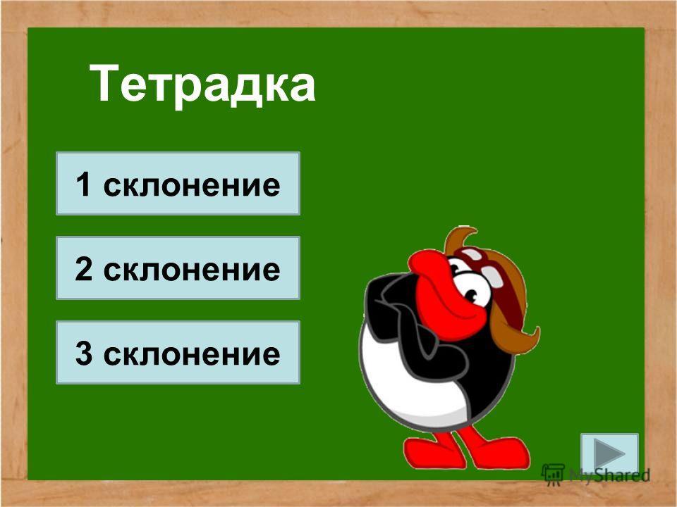 Тетрадка 1 склонение 2 склонение 3 склонение