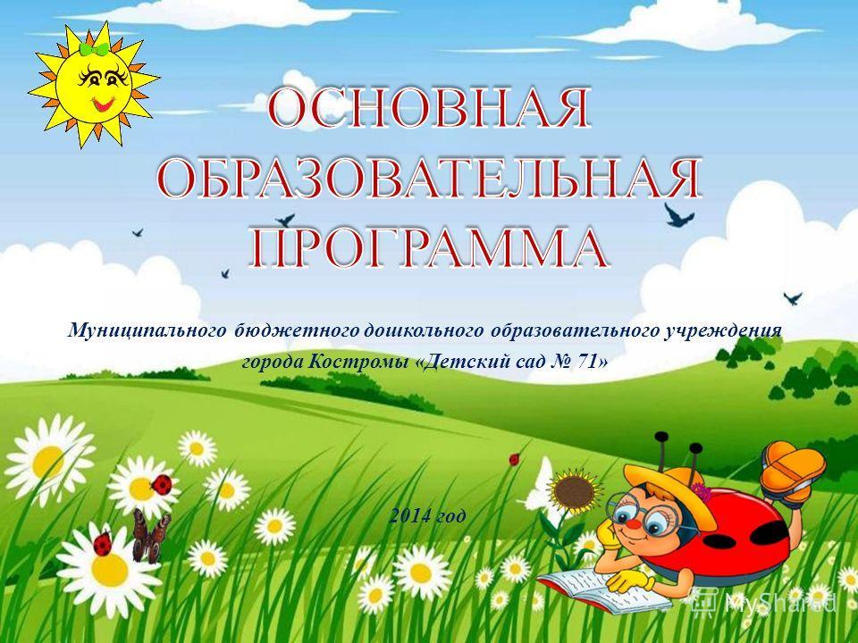 Муниципального бюджетного дошкольного образовательного учреждения города Костромы «Детский сад 71» 2014 год