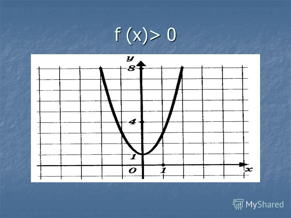 f (x)> 0