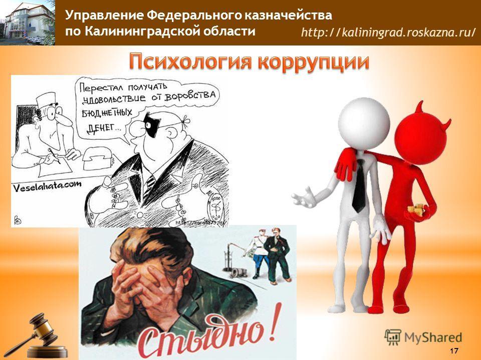 Управление Федерального казначейства по Калининградской области http://kaliningrad.roskazna.ru/ 17