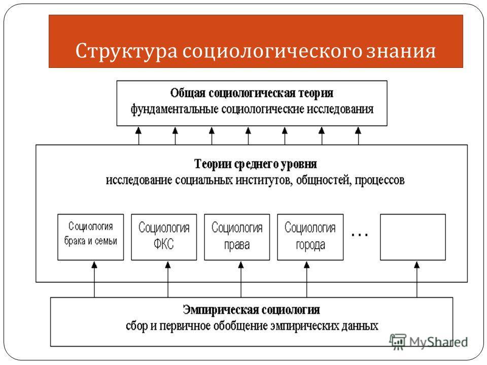 Структура социологического знания