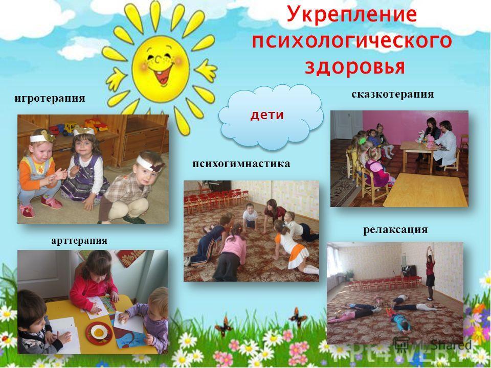 Укрепление психологического здоровья игротерапия сказкотерапия психогимнастика релаксация арт терапия дети