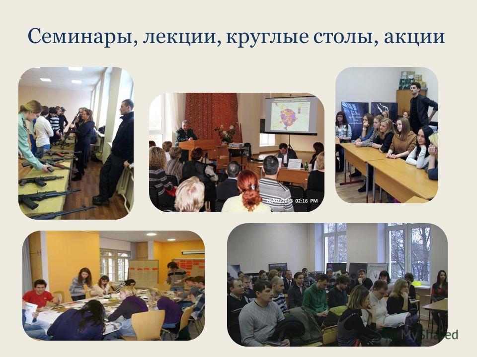 Семинары, лекции, круглые столы, акции
