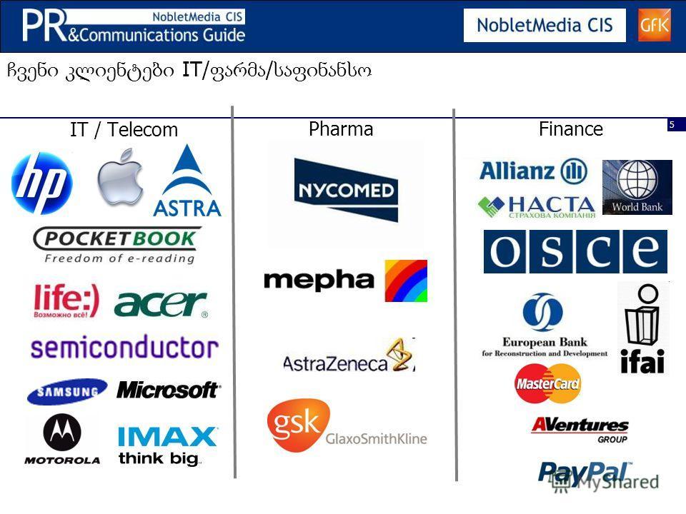 5 IT/ / IT / Telecom PharmaFinance